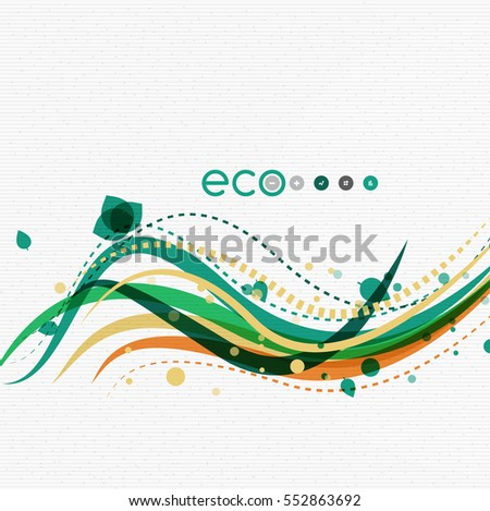vector nature floral template leaves color stock vector royalty