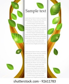 Vector nature tree banner