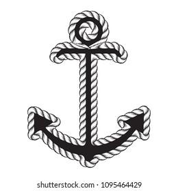 d17a8ddb7fa94 Vector Nautical Anchor Logo. Icon. Maritime. Sea Ocean Boat Illustration  Symbol