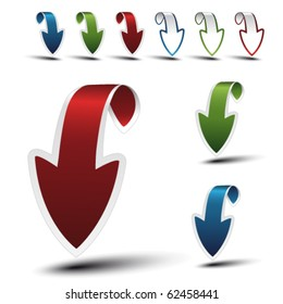 Vector navigation arrows - download, upload