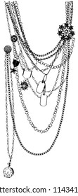 vector necklace tromp e-l'