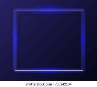 Vector neon frame. Vector modern neon banner
