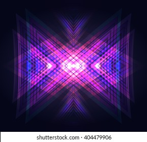 Vector neon geometric background. Element for posters, flyers and your design