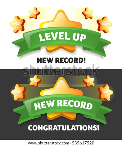 Vector New Record Message About Winning Stock Vector