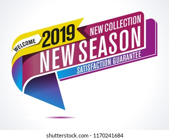 Vector new season label