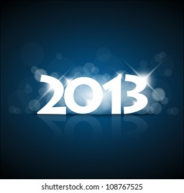 Vector New Year card 2013 with back light and place for your text