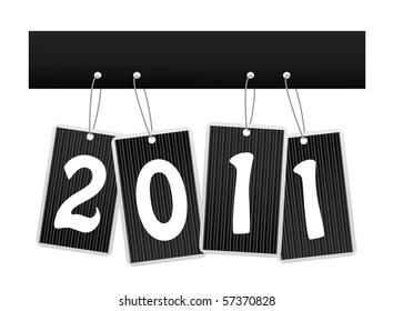 Vector New year card.