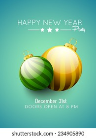 Vector new year party flyer, magazine cover, brochure.