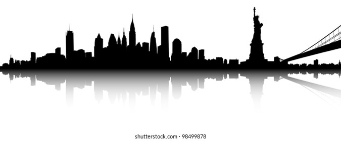 Vector of the New York skyline