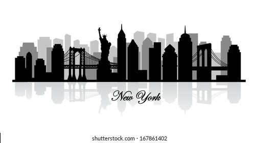 vector new york skyline silhouette