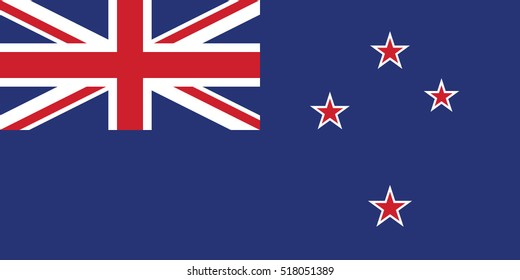Vector New Zealand flag page symbol for your web site design New Zealand flag logo, app, UI. New Zealand flag Vector illustration, EPS10.