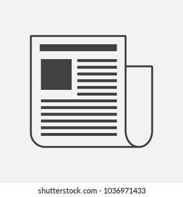 Vector news icon. Newspaper news.