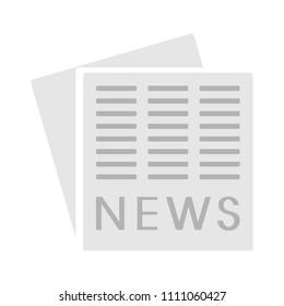vector newspaper design, news icon - media press illustration, information document