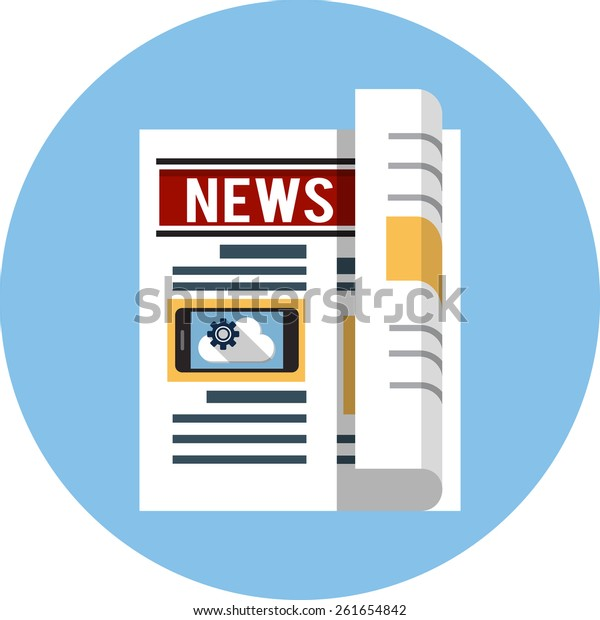 Vector Newspaper Flat Icon
