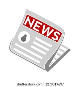 vector newspaper icon-newsletter icon-article symbol-reportage Illustration-media Illustration