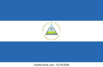Vector Nicaragua flag, Nicaragua flag illustration, Nicaragua flag picture, Nicaragua flag image