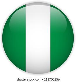 Vector - Nigeria Flag Glossy Button