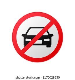 Vector no car sign symbol