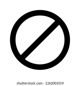 Vector No entry Icon Sign Icon Vector Illustration For Personal And Commercial Use...Clean Look Trendy Icon...