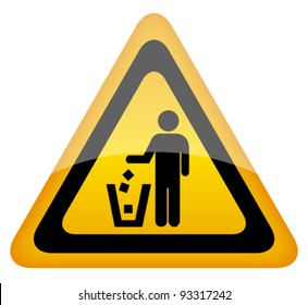 Vector no littering sign, eps10