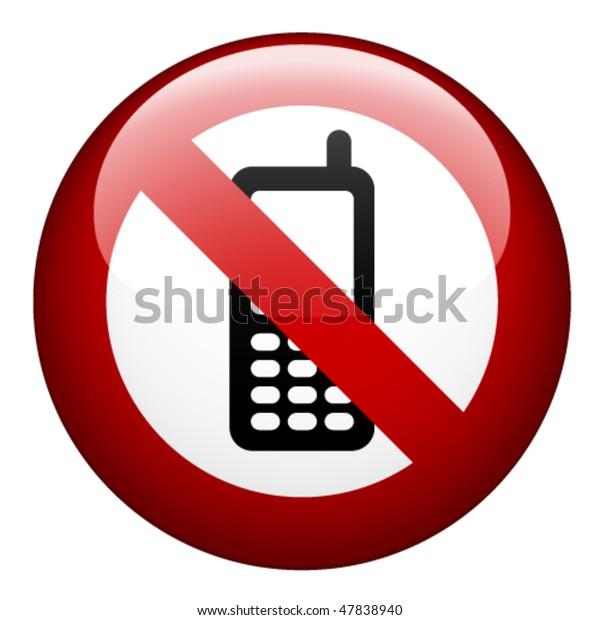 vector no phone mark