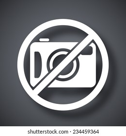 Vector no photography sign