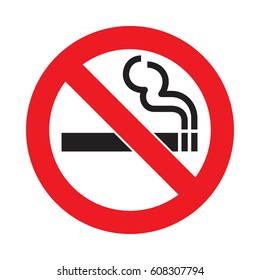Vector no smoking sign