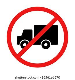Vector No Truck Illustration Sign