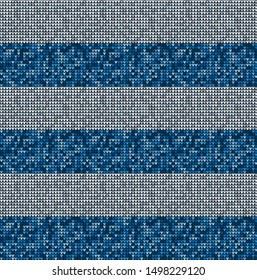 Vector nordic seamless knitted pattern
