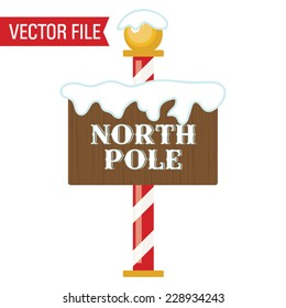 Vector North Pole Sign