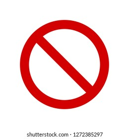 Vector Not Allowed Sign on white background