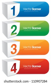 vector numbered banners