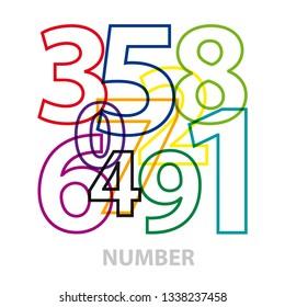 Vector numbers. Broken text