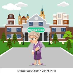 Vector nursing home illustration