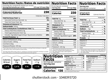 Vector Nutrition Facts food table Label design template. Serving size , fats and calories list for fitness healthy dietary, protein sport nutrition facts.  Mock up table label for food package design