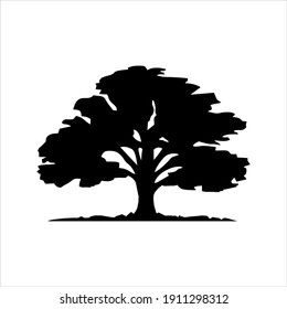 Vector of a oak tree logo