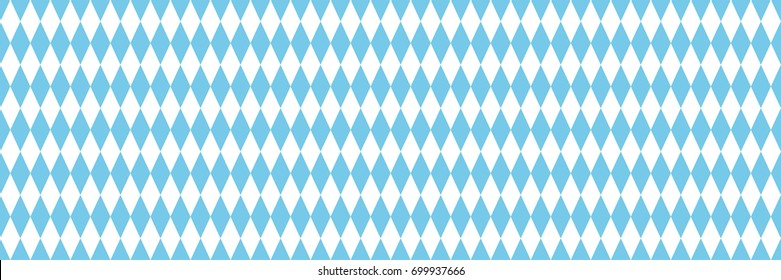 vector octoberfest horizontal banner with seamless geometric bavarian pattern with blank space for text