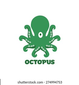 Vector octopus icon isolated on white background