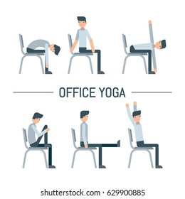 Men Pose On Chair Office Stock Illustrations Images Vectors Shutterstock