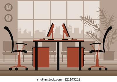 vector office interior