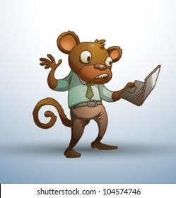 Vector Office stupid monkey 1