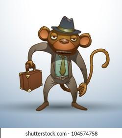 Vector Office stupid monkey 2