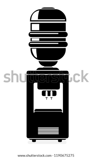 Vector Office Water Cooler Icon Illustration Stock Vector Royalty Free 1190675275