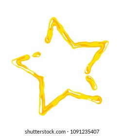 Vector of Oil or cheese star isolated on white background.