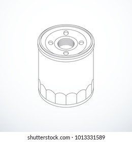 Vector oil filter isolated