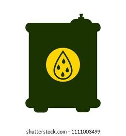vector oil and gas symbol. industrial icon - gasoline barrel illustration