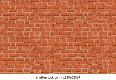 Vector old brick wall background