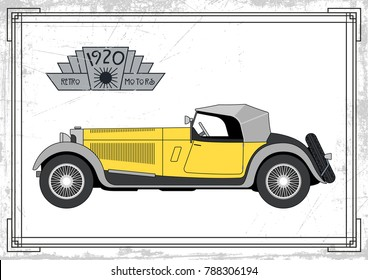 Vector Old Car from the Roaring Twenties