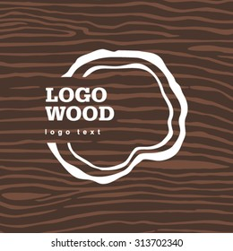 Vector old dry brown wood loogo