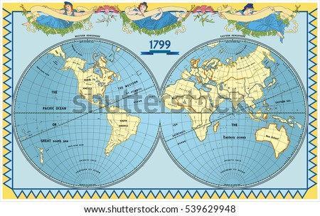 Atlas Globe Map.Vector Old Globe Map World New Stock Vector Royalty Free 539629948